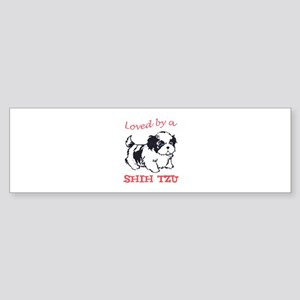 LOVED BY A SHIH TZU Bumper Sticker