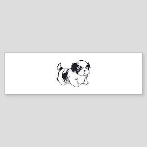 SHIH TZU PUP Bumper Sticker