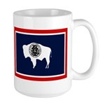 Wyoming State Flag on RH Large Mug