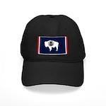 Wyoming State Flag on Black Cap