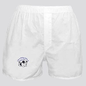 BETTER WITH SHIH TZU Boxer Shorts