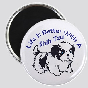 BETTER WITH SHIH TZU Magnets