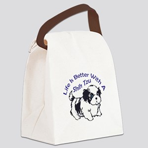 BETTER WITH SHIH TZU Canvas Lunch Bag