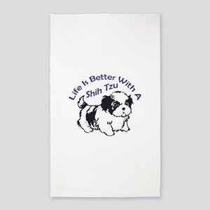 BETTER WITH SHIH TZU Area Rug