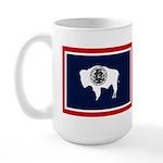 Wyoming State Flag on LH Large Mug