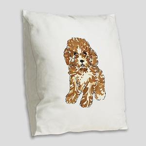 TOY POODLE Burlap Throw Pillow