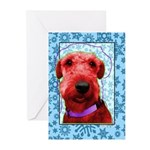 Airedale Terrier Greeting Cards (Pk of 10)