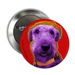 Airedale dog Button