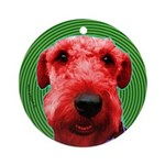 Airedale dog Christmas Ornament (Round)