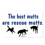The Best Mutts Are Rescues Postcards (Package of 8