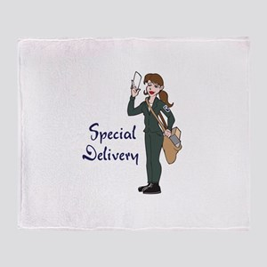 SPECIAL DELIVERY Throw Blanket