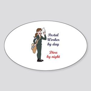 POSTAL WORKER BY DAY Sticker