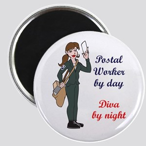 POSTAL WORKER BY DAY Magnets