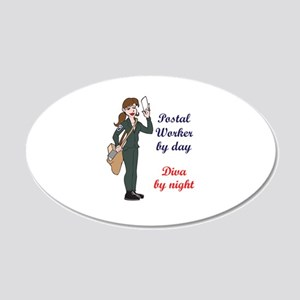 POSTAL WORKER BY DAY Wall Decal