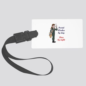 POSTAL WORKER BY DAY Luggage Tag
