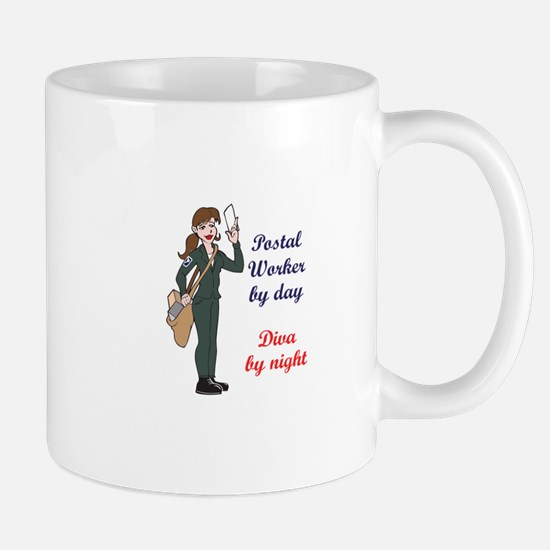 POSTAL WORKER BY DAY Mugs