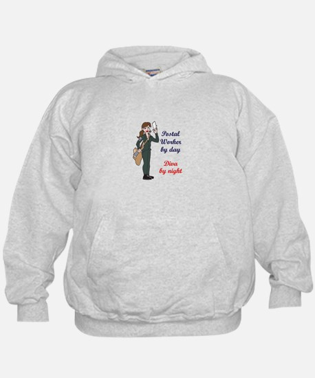 POSTAL WORKER BY DAY Hoodie