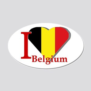 I Love Belgium 20x12 Oval Wall Decal