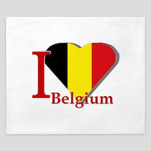 I love Belgium King Duvet