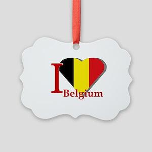 I love Belgium Picture Ornament