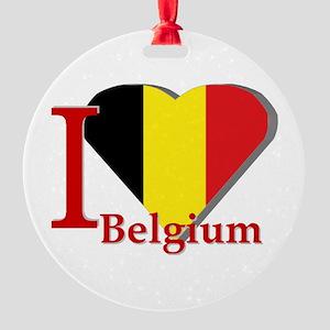 I love Belgium Round Ornament