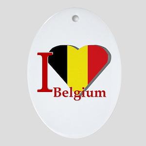 I love Belgium Ornament (Oval)