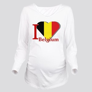 I love Belgium Long Sleeve Maternity T-Shirt
