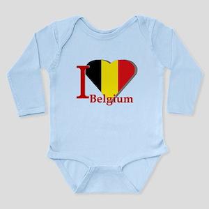 I love Belgium Long Sleeve Infant Bodysuit