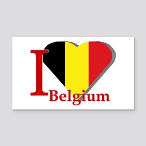I love Belgium Rectangle Car Magnet