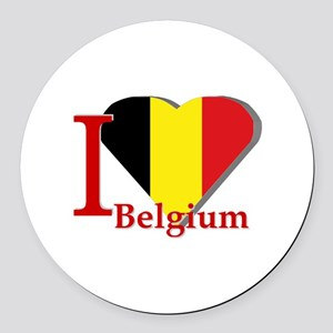 I love Belgium Round Car Magnet