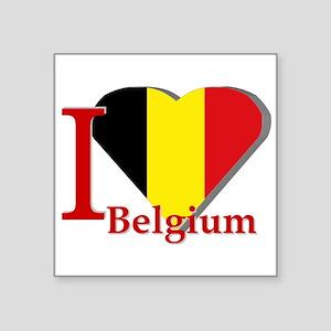 """I love Belgium Square Sticker 3"""" x 3"""""""