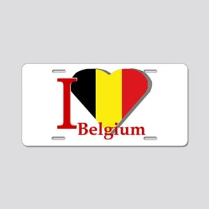 I love Belgium Aluminum License Plate