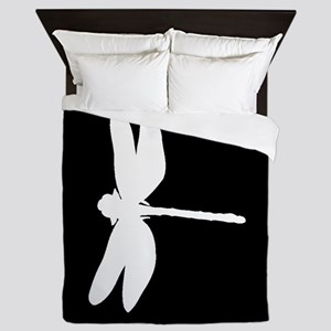 Dragonfly Silhouette Queen Duvet