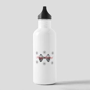 Cute Happy Holidays Custom Water Bottle