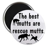 """The Best Mutts Are Rescues 2.25"""" Magnet (100 pack)"""