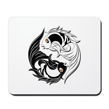 Yin Yang Fishes Mousepad
