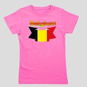 Belgian flag ribbon Girl's Tee