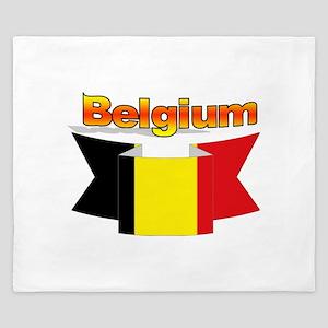 Belgian flag ribbon King Duvet