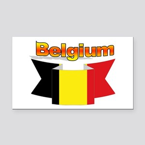 Belgian flag ribbon Rectangle Car Magnet