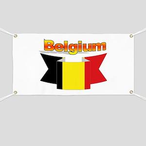 Belgian flag ribbon Banner