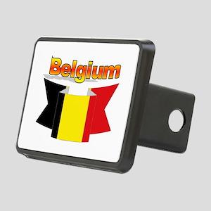Belgian flag ribbon Rectangular Hitch Cover