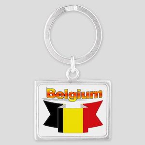 Belgian flag ribbon Landscape Keychain