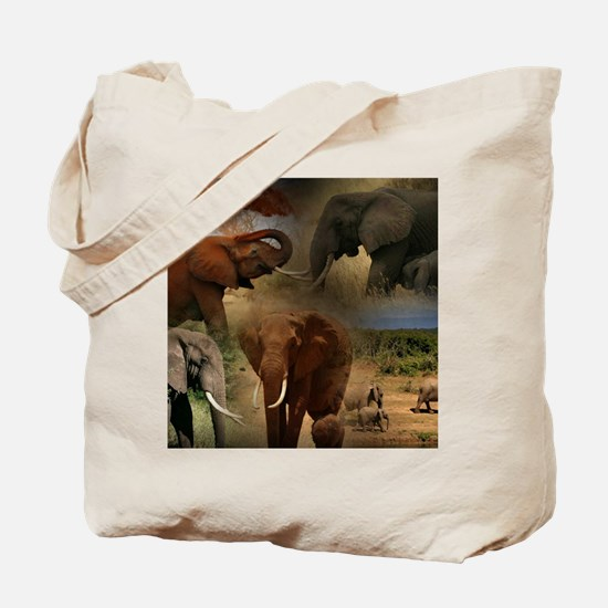 Unique African elephant Tote Bag