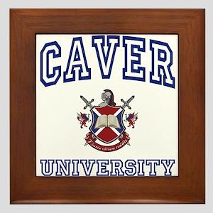 CAVER University Framed Tile