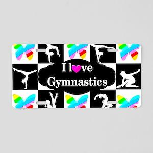 GYMNASTICS LOVE Aluminum License Plate