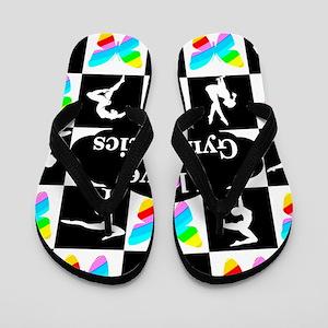 9a2dd237bfc430 Gymnastics Quotes Flip Flops - CafePress