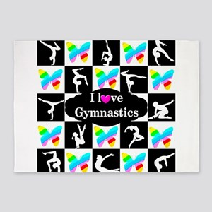 GYMNASTICS LOVE 5'x7'Area Rug