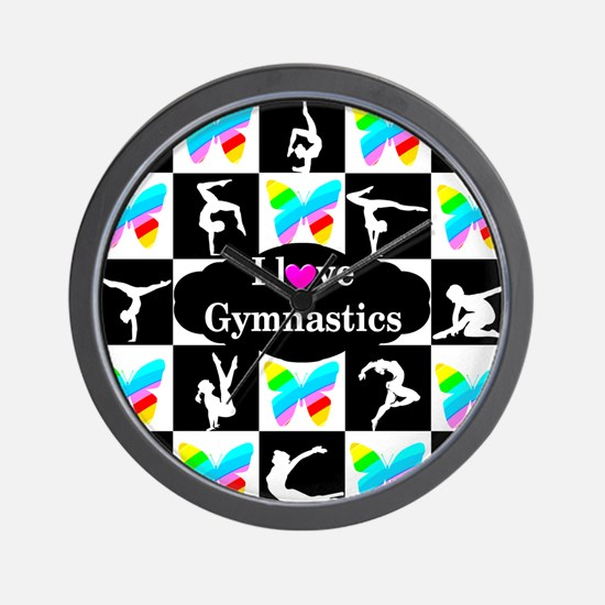 GYMNASTICS LOVE Wall Clock