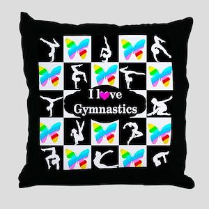 GYMNASTICS LOVE Throw Pillow