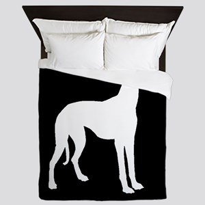 Greyhound Silhouette Queen Duvet
